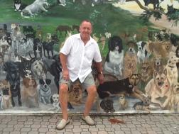 Pet memorial wall