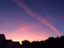 Sunset in pinks