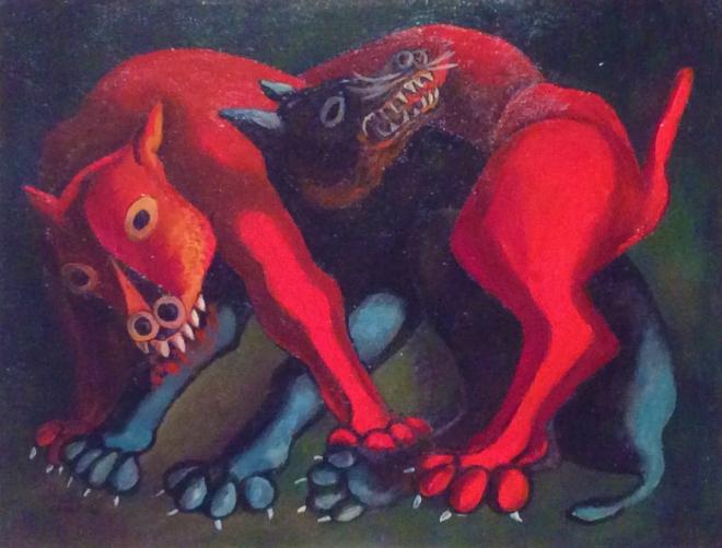 Carlos Cañas, Dogs, 1956.